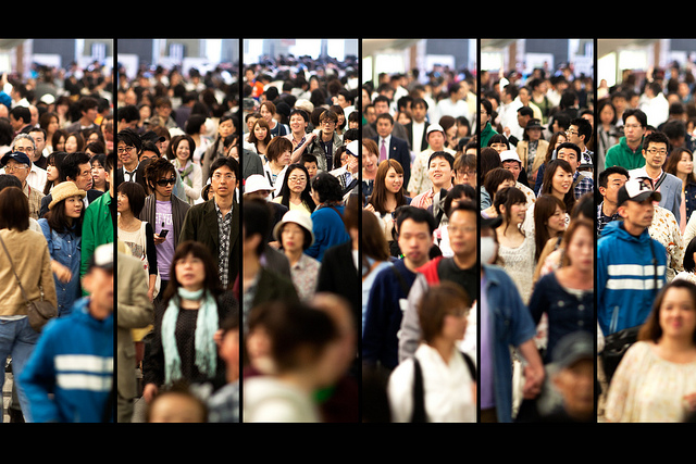 Japanese people crowded