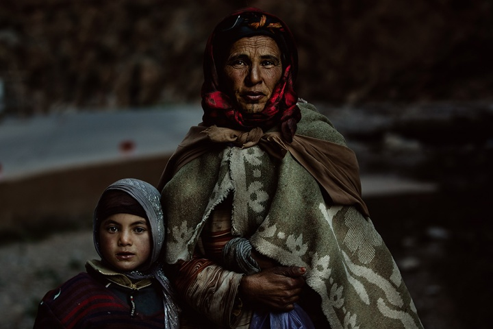 Berber woman and her child
