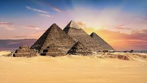 Pyramids of giza in africa