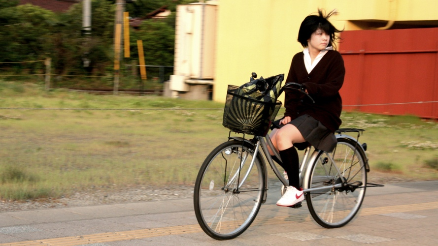 Biking is one of the most popular methods of transportation in Japan