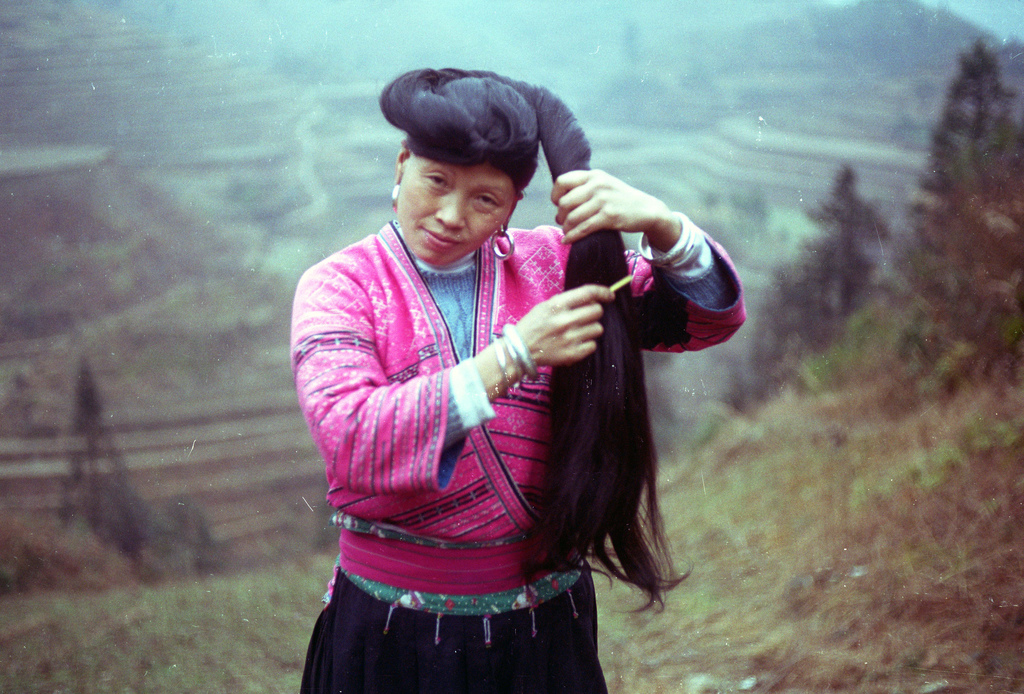 Yao Woman Combing Her Hair